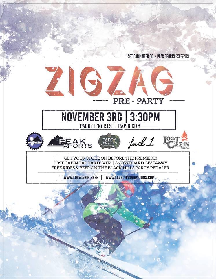 Level 1 Zigzag ski movie in at the Elks Theatre in Rapid City, South Dakota