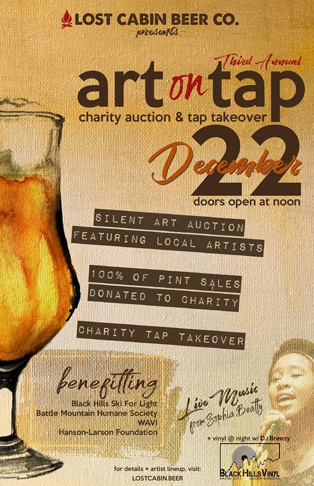 Art on Tap: Charity Auction & Tap Takeover at Lost Cabin in Rapid City, South Dakota