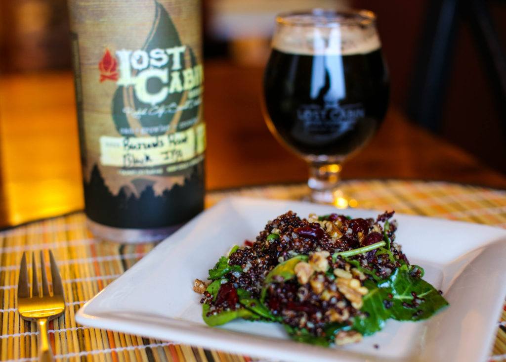 Baby Kale and Toasted Walnut Salad paired with Buzzard's Roost from Lost Cabin in Rapid City, South Dakota