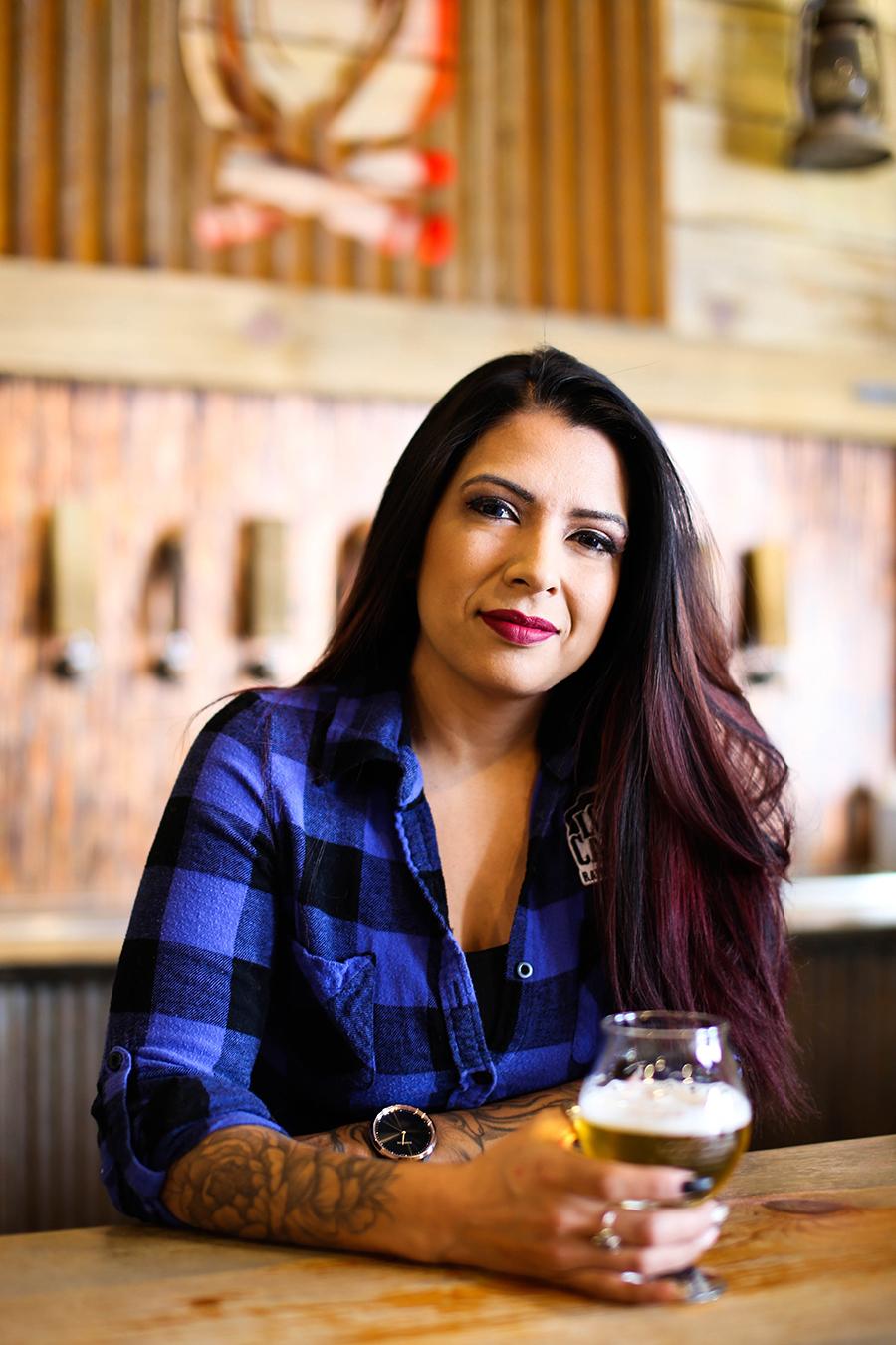 Adrienne Scheitler Lost Cabin Beer Co. co-owner beertender